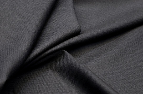Fabric suit black stretch out of wool