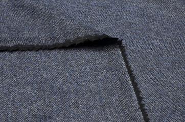 Suit fabric, tweed dark blue wool.