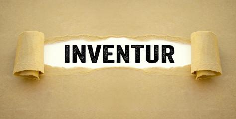 Zerrissenes Papier Inventur