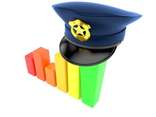 Police hat with chart