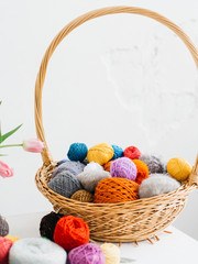 Color yarn for knitting