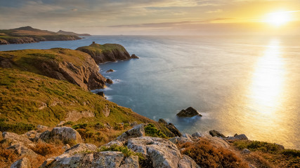 Wall Mural - abereiddy sunset, pembrokeshire south wales