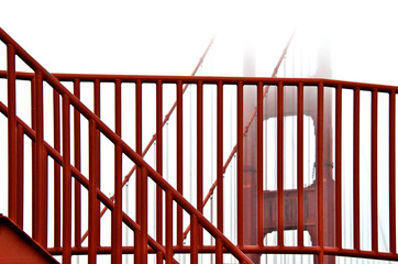 Hand Railing and cable, Golden Gate Bridge