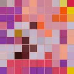 Pixel 2d pattern. Multiple colors. Illustration backdrop.