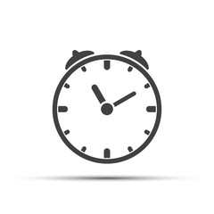 Clock and stopwatch icon on white