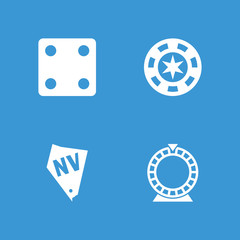 Collection of 4 vegas filled icons
