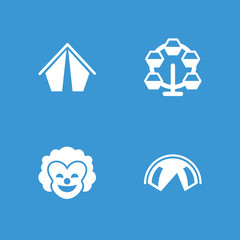 Collection of 4 circus filled icons