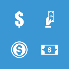 Collection of 4 income filled icons