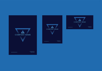 Envelope Layout Set with Blue Triangle Element