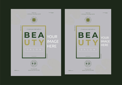 Poster Layout with Green Gradient Box Element