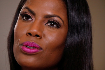 """Former U.S. White House staffer Omarosa Manigault-Newman speaks during an interview on the release of her book """"Unhinged"""" in Manhattan, New York"""