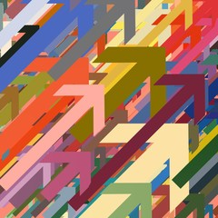 Colorful 2d geometric generated patterns.