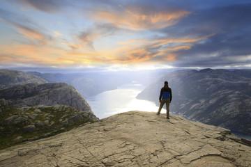Preikestolen View Of Lysefjord