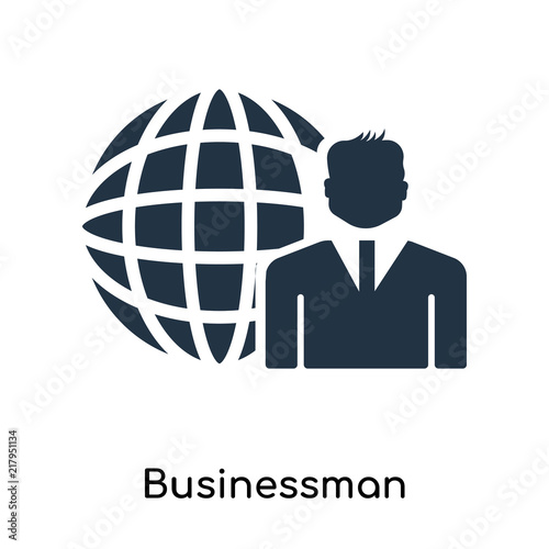 Businessman Icon Vector Isolated On White Background Businessman