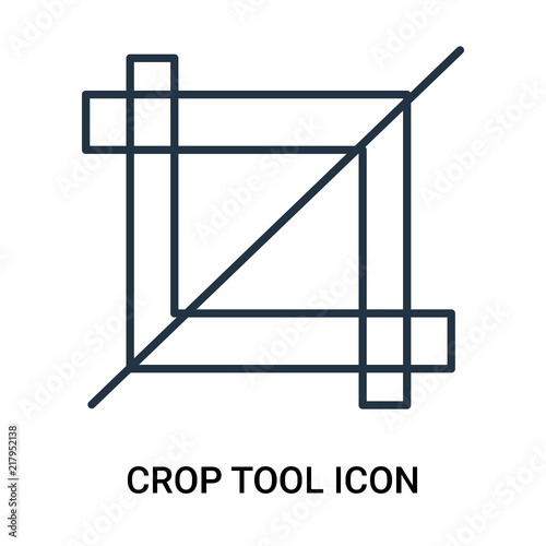 crop tool icon isolated on white background  Modern and