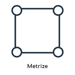 Metrize icon vector isolated on white background, Metrize sign , line symbols or linear logo design in outline style