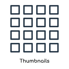 Thumbnails icon vector isolated on white background, Thumbnails sign , line symbols or linear logo design in outline style