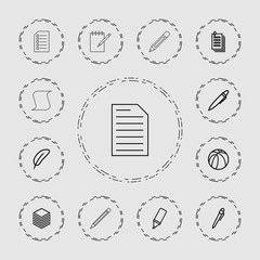 Collection of 13 pen outline icons