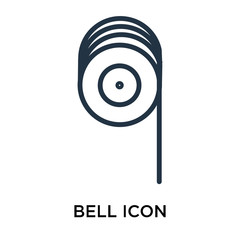 Bell icon vector isolated on white background, Bell sign , thin symbol or stroke element design in outline style