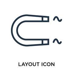 Layout icon vector isolated on white background, Layout sign , thin symbol or stroke element design in outline style