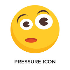 Pressure icon vector isolated on white background, Pressure sign