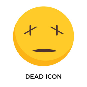 Dead icon vector isolated on white background, Dead sign