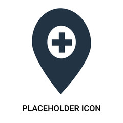 placeholder icon isolated on white background. Modern and editable placeholder icon. Simple icons vector illustration.