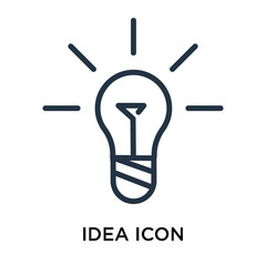 idea icons isolated on white background. Modern and editable idea icon. Simple icon vector illustration.