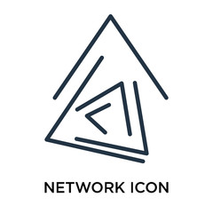 Network icon vector isolated on white background, Network sign , thin symbol or stroke element design in outline style