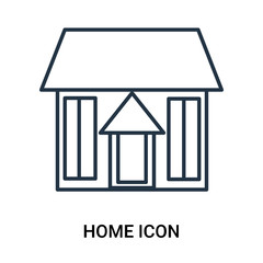 Home icon vector isolated on white background, Home sign , outline linear symbol or line shape