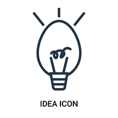 idea icon on white background. Modern icons vector illustration. Trendy idea icons