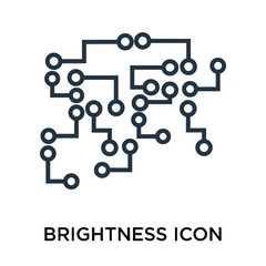 Brightness icon vector isolated on white background, Brightness sign , thin symbol or stroke element design in outline style
