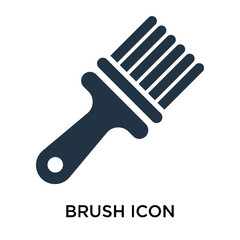 brush icons isolated on white background. Modern and editable brush icon. Simple icon vector illustration.