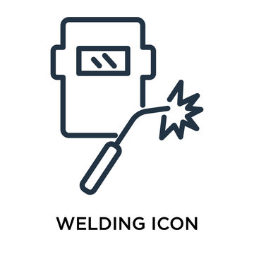 welding icon isolated on white background. Simple and editable welding icons. Modern icon vector illustration.