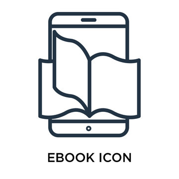 ebook icons isolated on white background. Modern and editable ebook icon. Simple icon vector illustration.