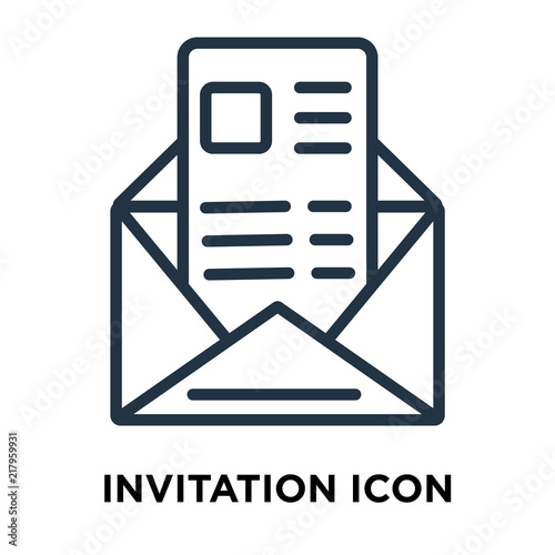 Invitation icon vector isolated on white background invitation sign invitation icon vector isolated on white background invitation sign thin symbols or lined elements stopboris Gallery