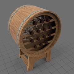 Barrel stand for wine