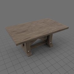 Minimalistic Wood Table