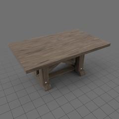 Minimalistic Wood Table