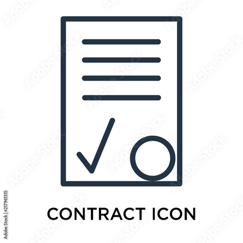 contract icon vector isolated on white background contract sign