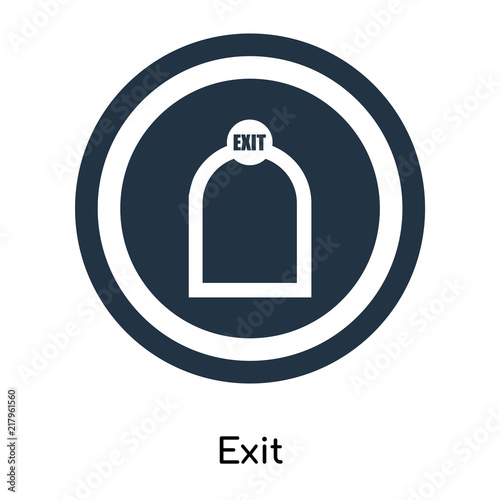 Exit Icon Vector Isolated On White Background Exit Sign Symbols