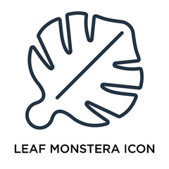 leaf monstera icons isolated on white background. Modern and editable leaf monstera icon. Simple icon vector illustration.