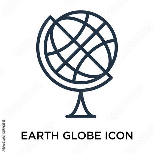 earth globe icons isolated on white background  Modern and