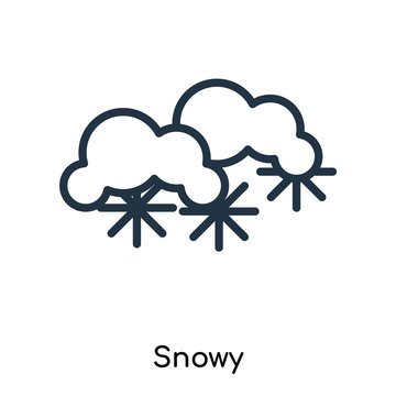 snowy icon isolated on white background. Modern and editable snowy icon. Simple icons vector illustration.