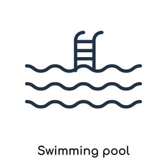 swimming pool icons isolated on white background. Modern and editable swimming pool icon. Simple icon vector illustration.