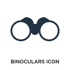 binoculars icon isolated on white background. Simple and editable binoculars icons. Modern icon vector illustration.