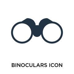 Binoculars icon vector isolated on white background, Binoculars sign