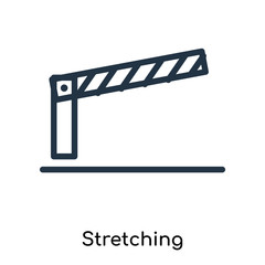 Stretching icon vector isolated on white background, Stretching sign , thin symbols or lined elements in outline style