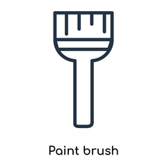Paint brush icon vector isolated on white background, Paint brush sign , thin symbols or lined elements in outline style