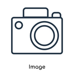 Image icon vector isolated on white background, Image sign , thin symbols or lined elements in outline style